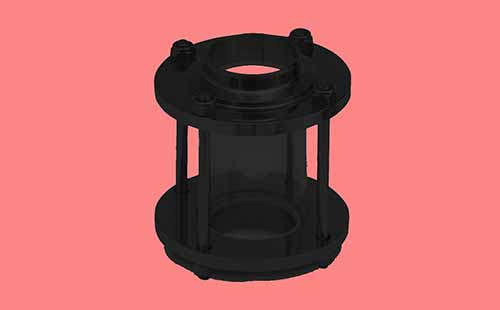 Mild Steel PTFE Lined Sight Glass
